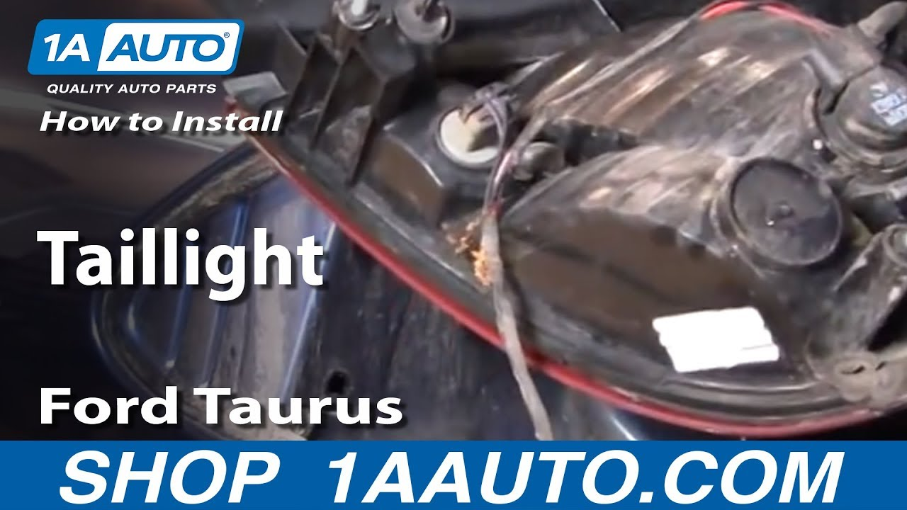 How to Replace Tail Light 00-03 Ford Taurus