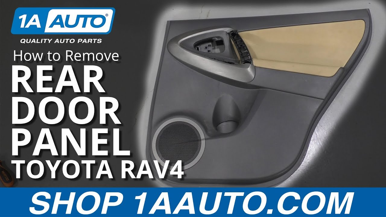 How to Remove Rear Door Panel 05-16 Toyota RAV4