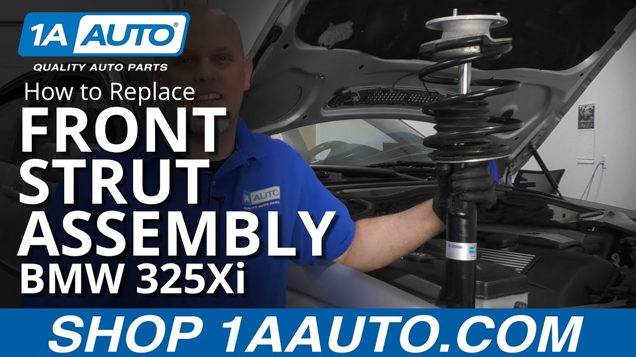 How to Replace Front Strut Assembly 97-06 BMW 325Xi