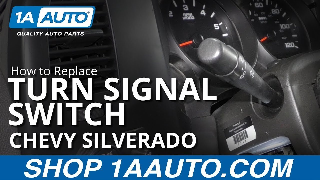 How to Replace Turn Signal Switch 07-13 Chevy Silverado
