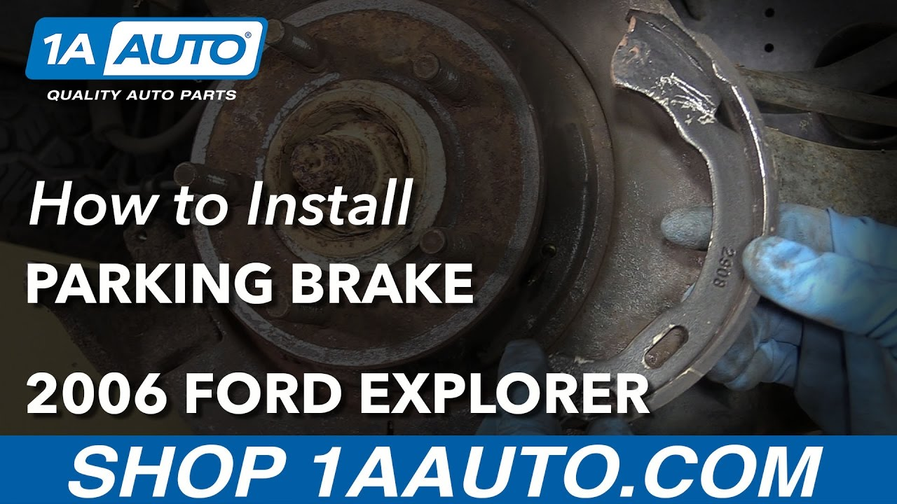 How to Replace Parking Brake and Hardware 02-10 Ford Explorer