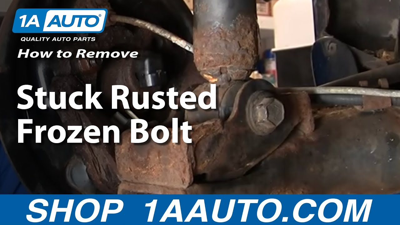 How to Remove Stuck Rusted Frozen Bolt by Heating With a Torch