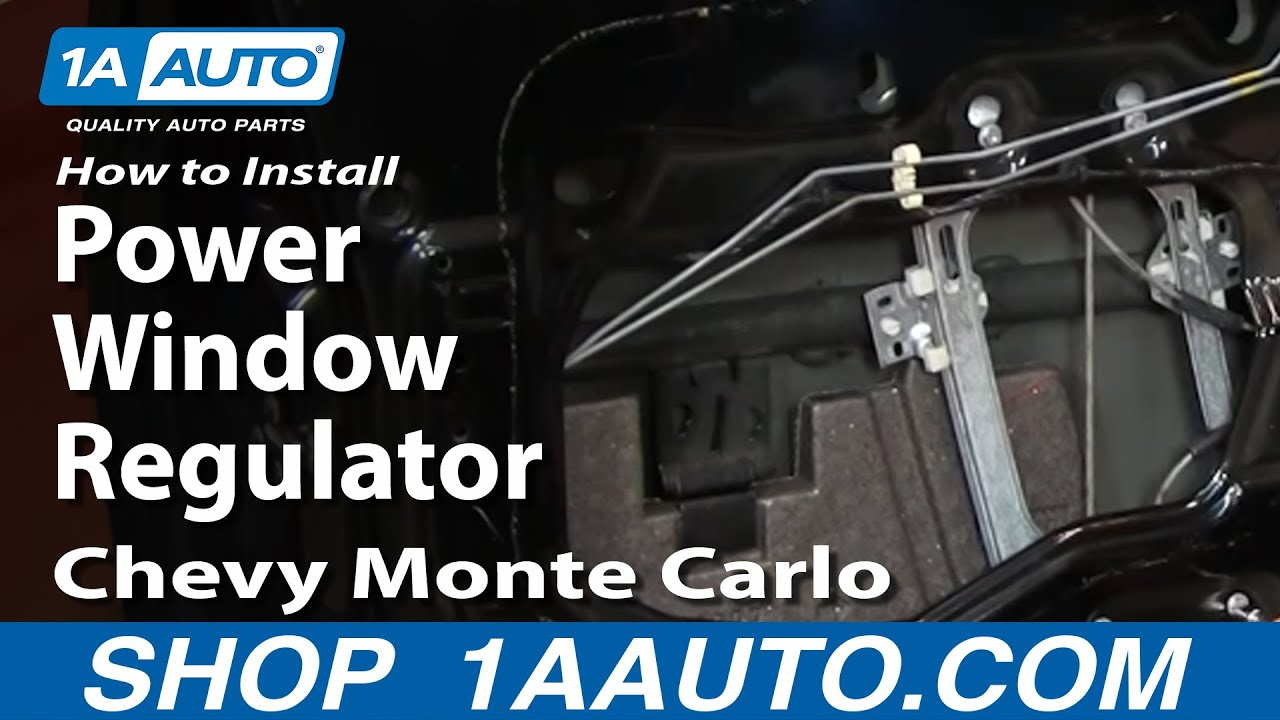 How To Replace Window Regulators 00 07 Chevy Monte Carlo