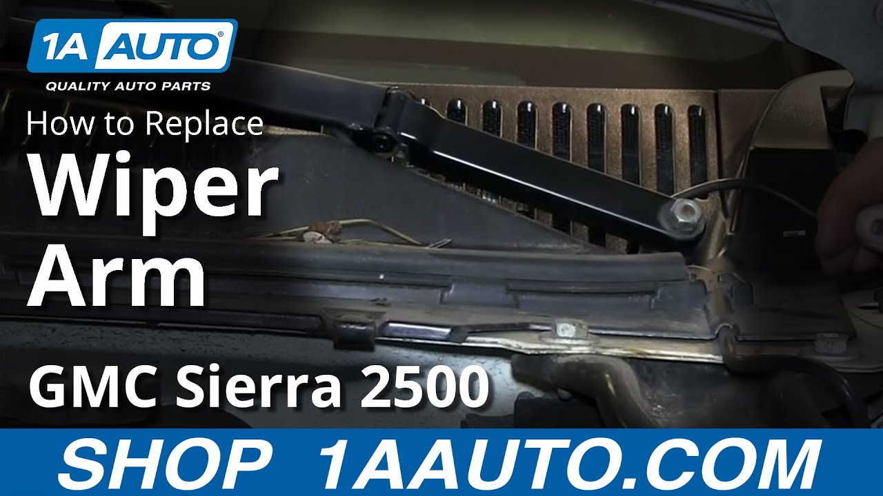 How To Replace Wiper Arms 01-02 GMC Sierra 2500 HD