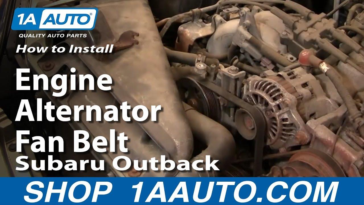 How To Replace Alternator Fan Belt 00-04 Subaru Outback