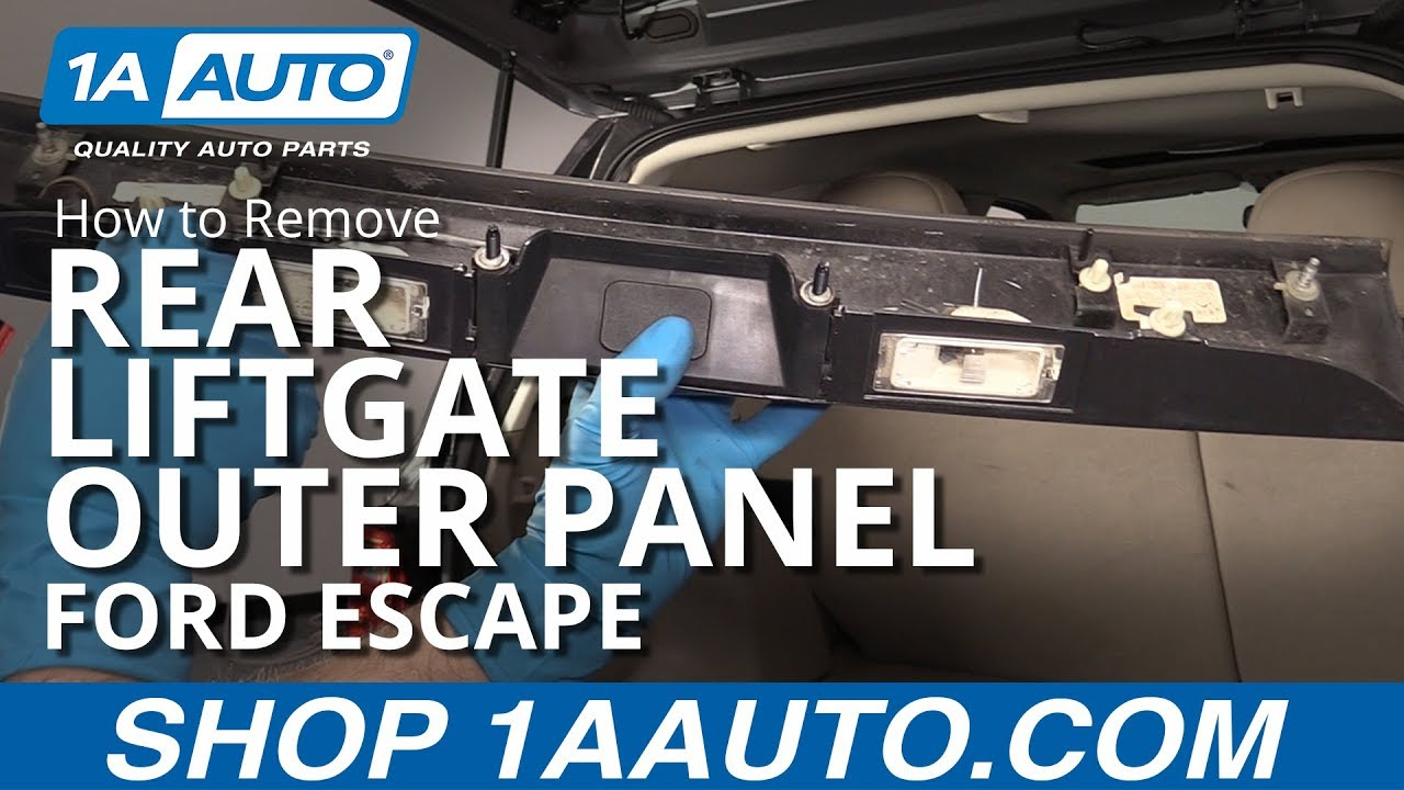 How to Remove Rear Liftgate Outer Panel (Applique) 08-12 Ford Escape