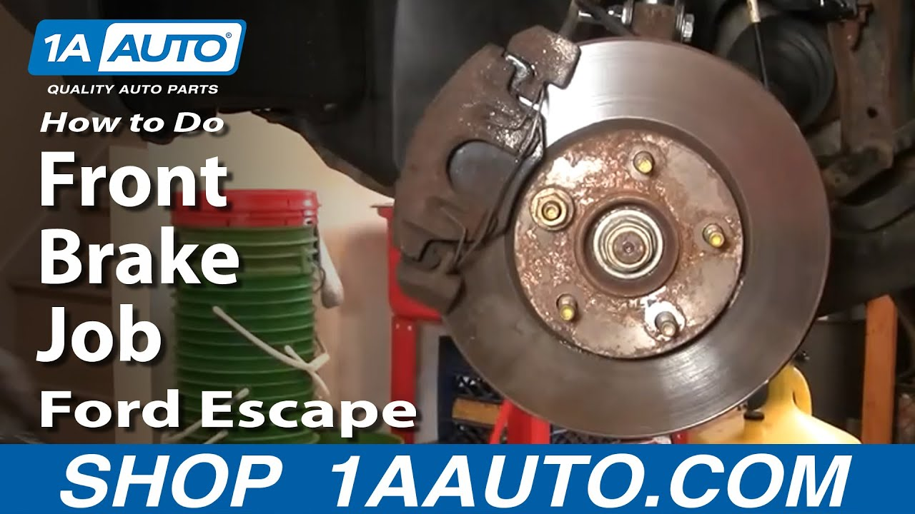 How To Replace Front Brakes 01-07 Ford Escape