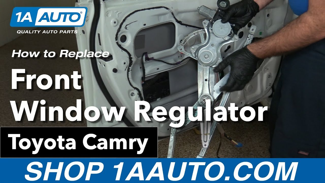 How to Replace Front Window Regulator 06-11 Toyota Camry
