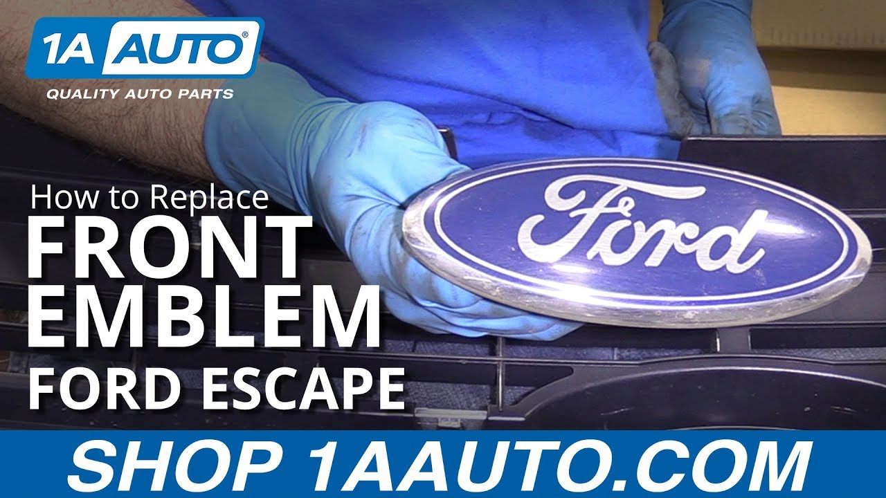 How to Replace Front Emblem 08-12 Ford Escape