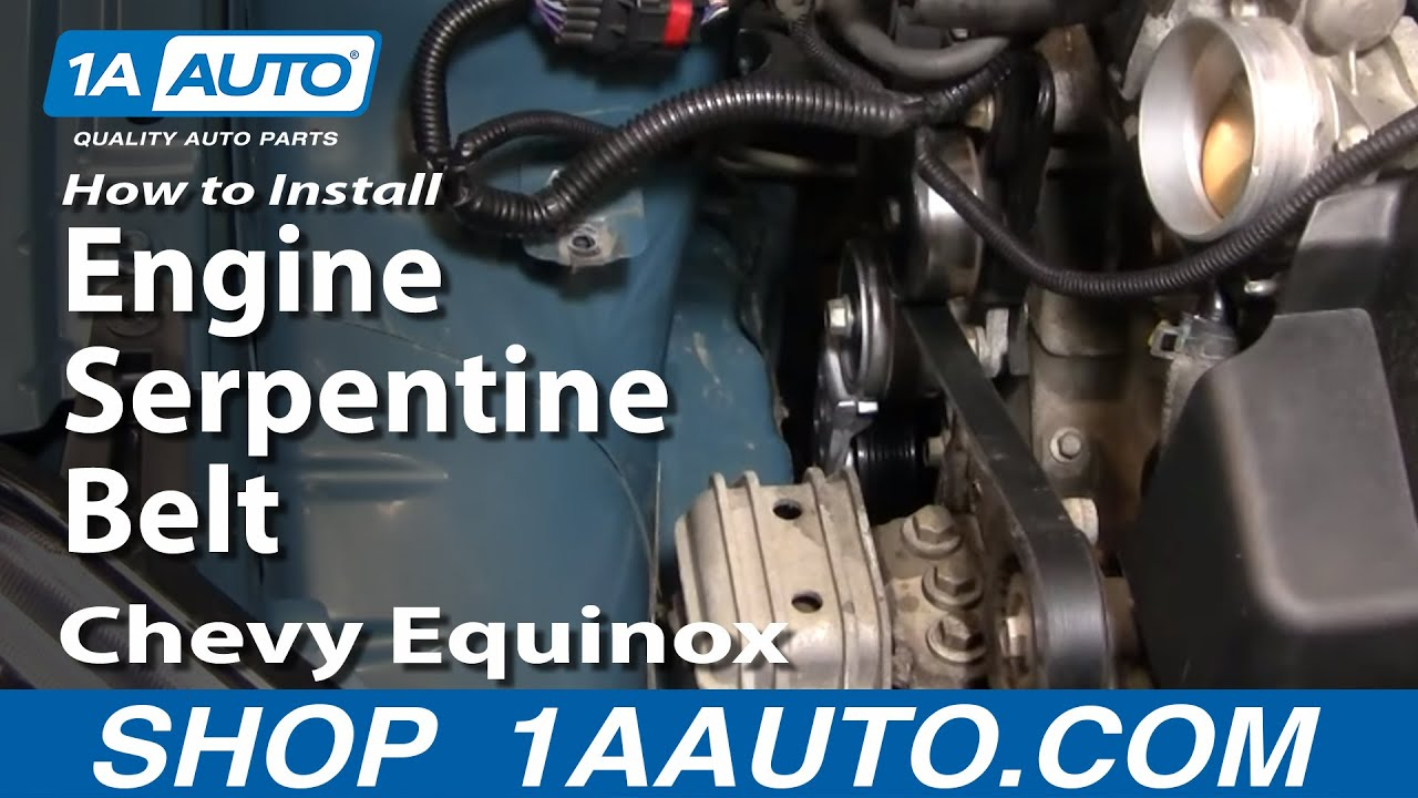 How To Replace  Serpentine Belt 05-09 Chevy Equinox
