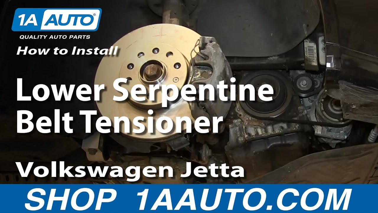How to Replace Serpentine Belt Tensioner 05-14 Volkswagen Jetta