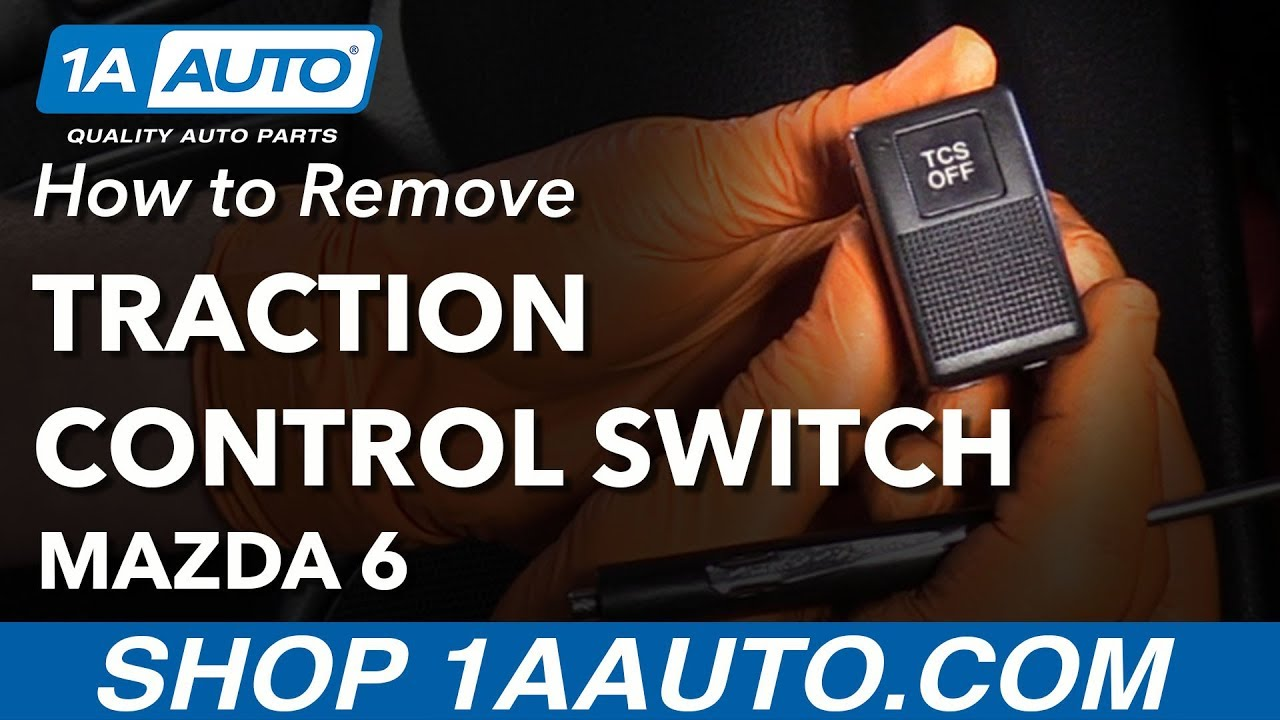 How to Remove Traction Control Switch 02-07 Mazda 6