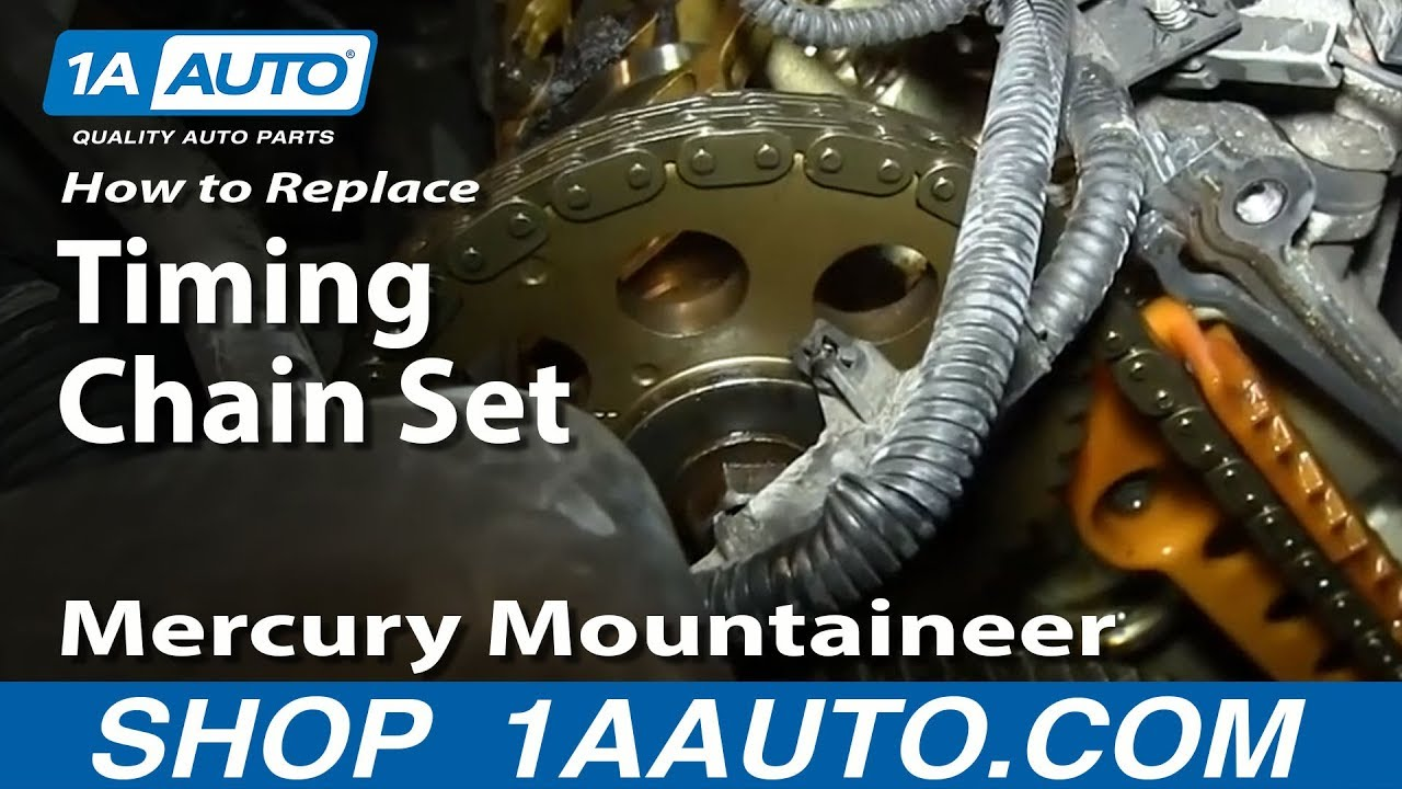 How to Replace Timing Chain Set 02-05 Mercury Mountaineer - Part 3