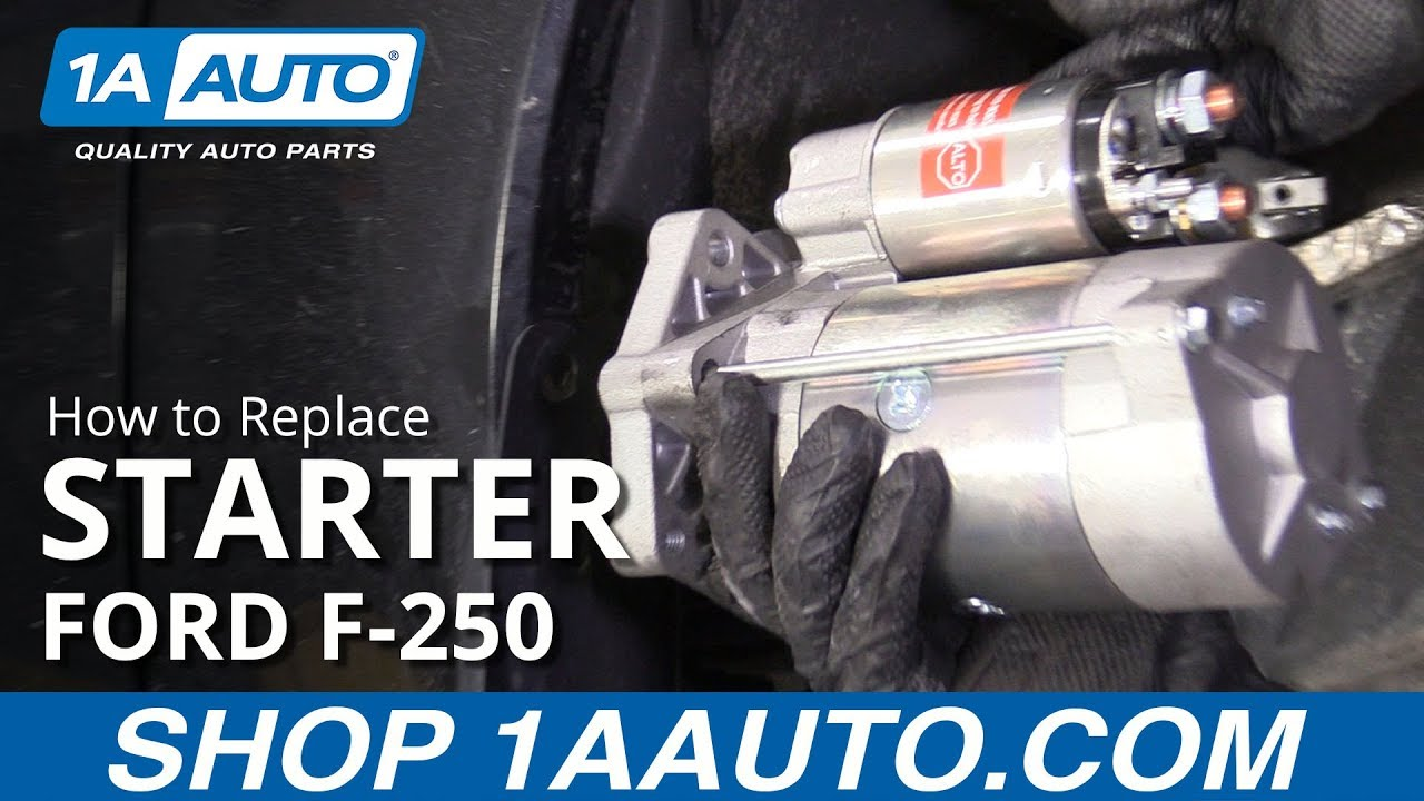 How to Replace Starter 11-16 Ford F250