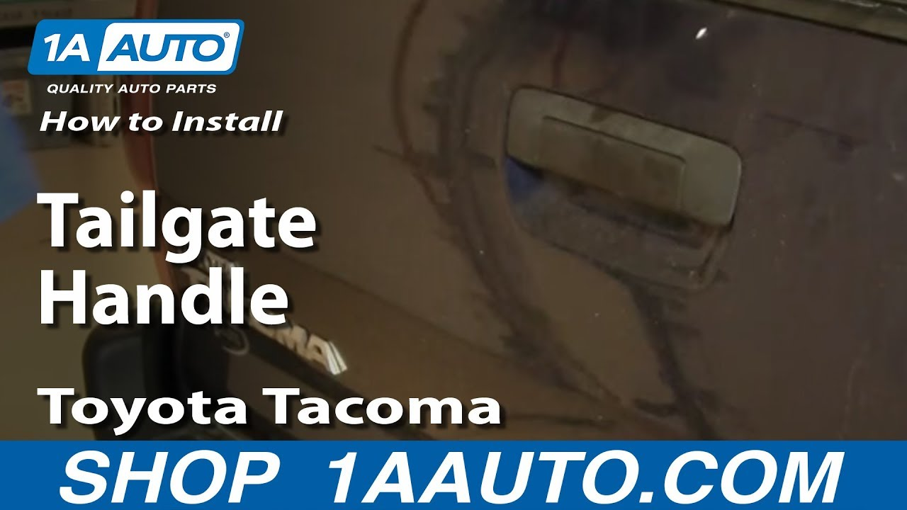 How to Replace Tailgate Handle 05-08 Toyota Tacoma