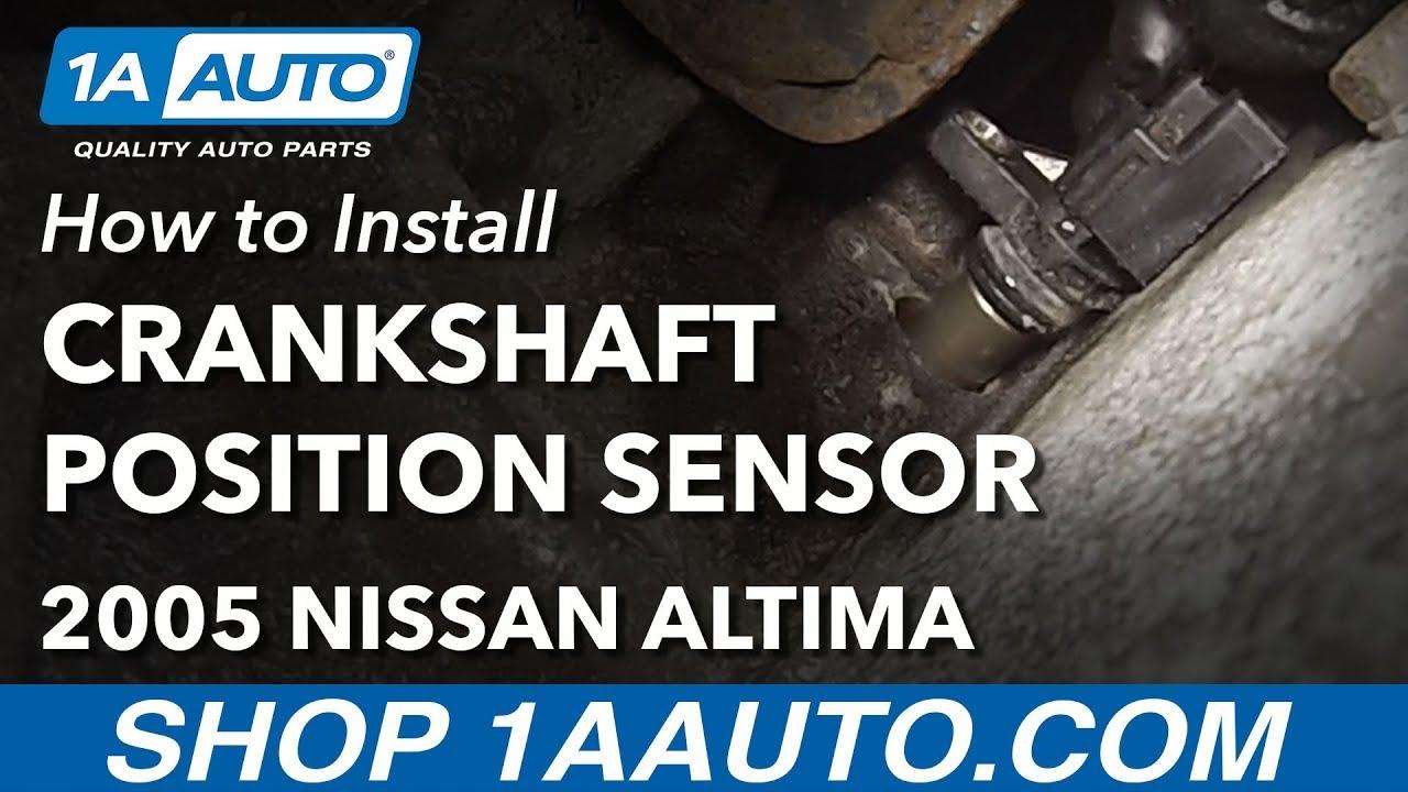How to Replace Crankshaft Position Sensor 02-06 Nissan Altima L4 2.5L