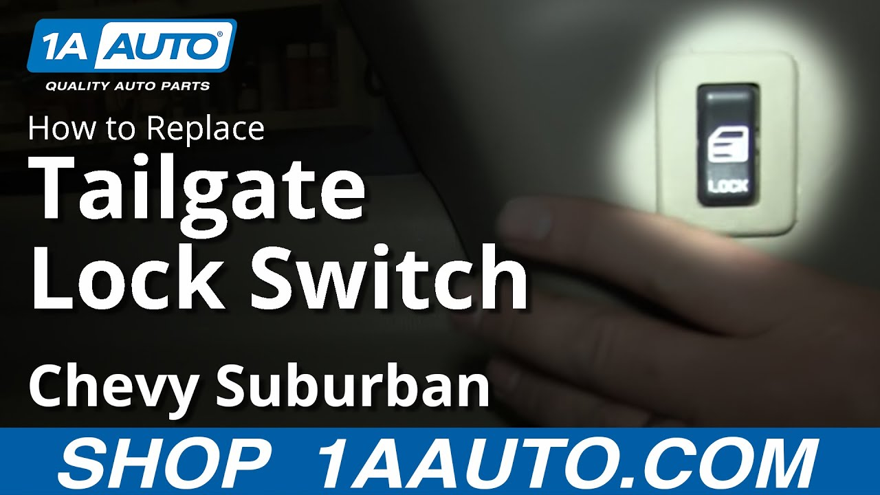 How To Replace Tailgate Lock Switch 00-06 Chevy Suburban