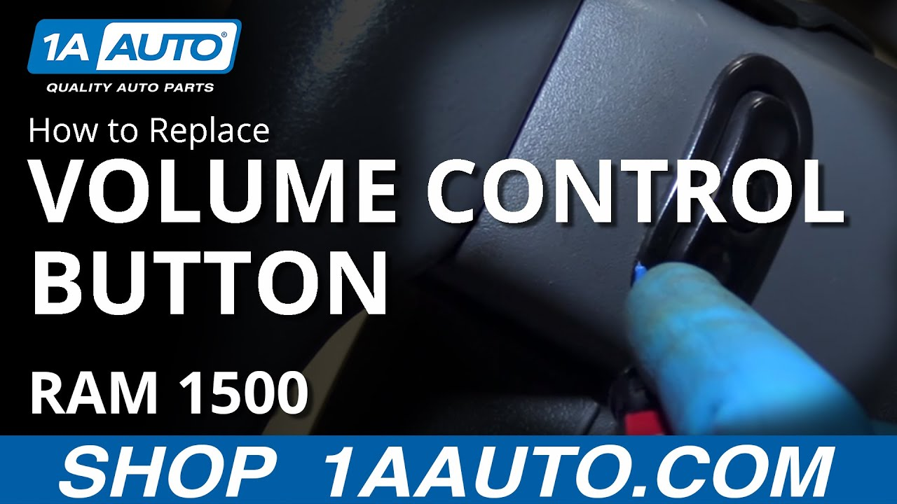How to Replace Volume Control Button 02-10 Dodge Ram