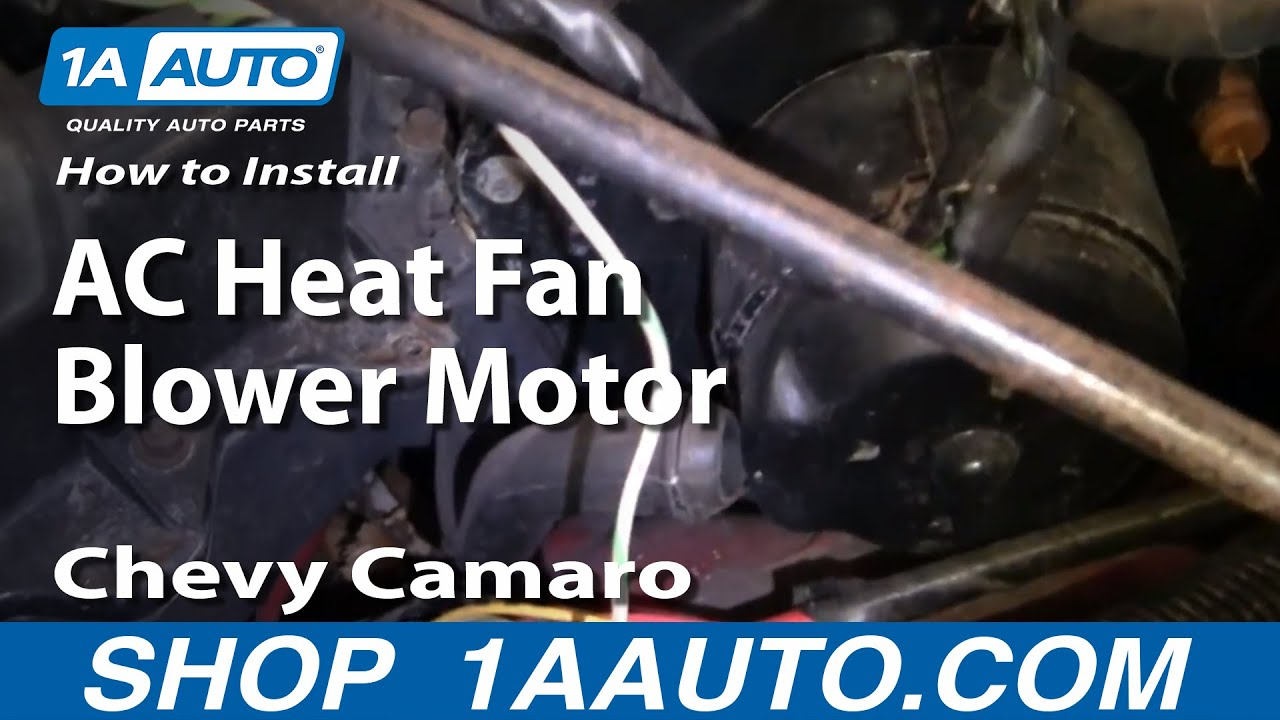 How to Replace Blower Motor with Fan Cage 82-88 Chevy Camaro