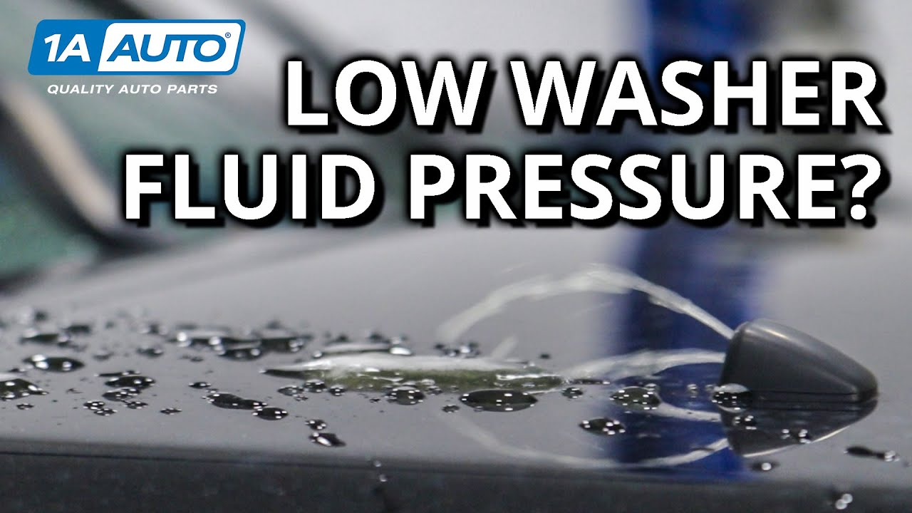 Cant Spray Your Cars Windshield Diagnose Broken Washer Nozzles