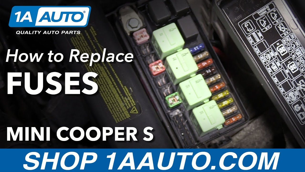 How to Replace Under Hood Fuses 07-13 Mini Cooper S