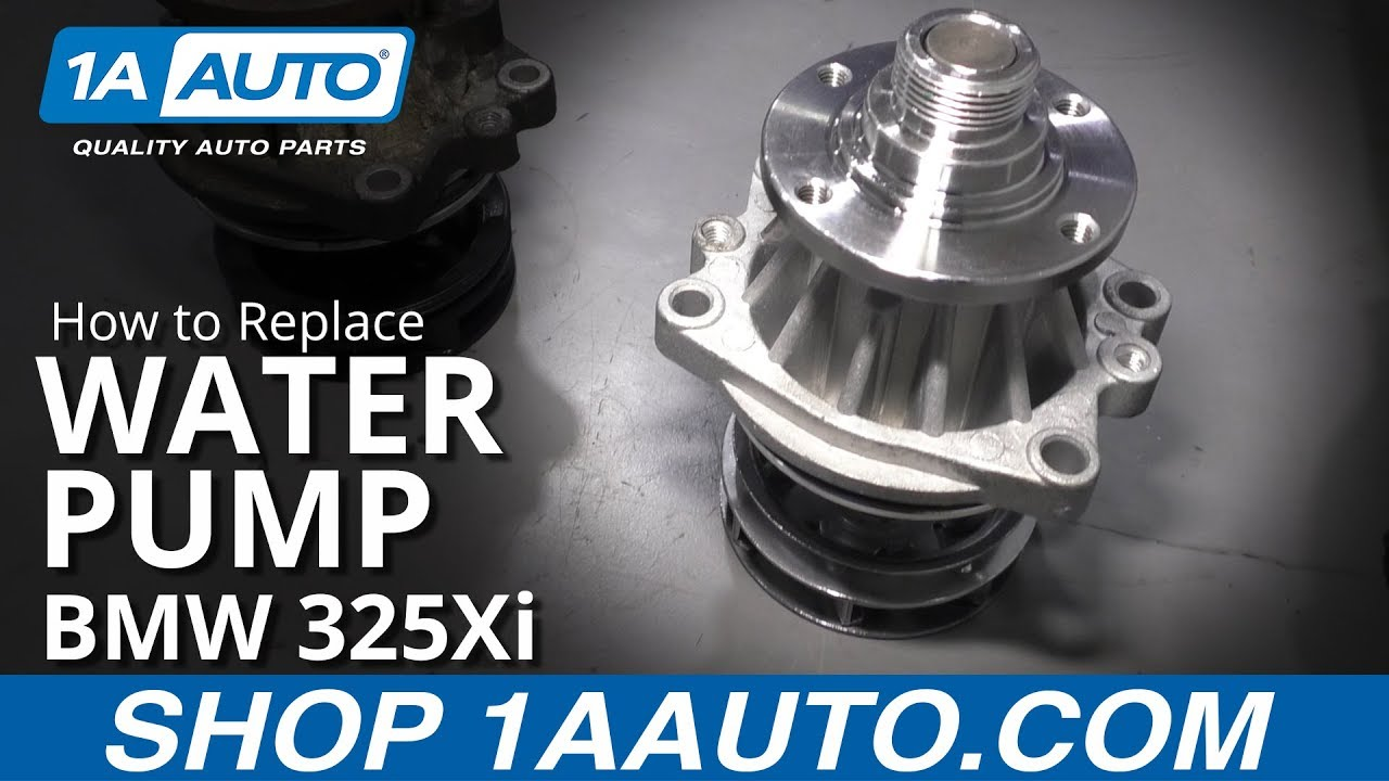 How to Replace Water Pump 01-05 BMW 325Xi