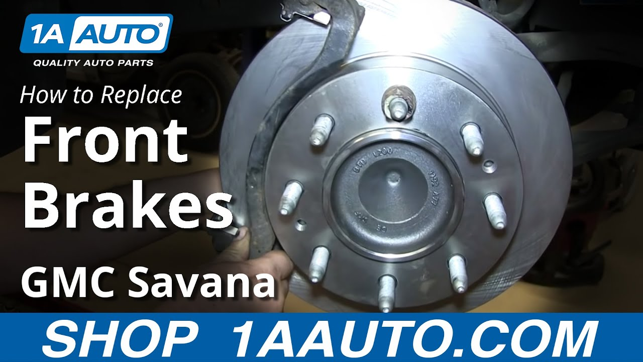 How to Replace Front Brakes 03-08 GMC Savana