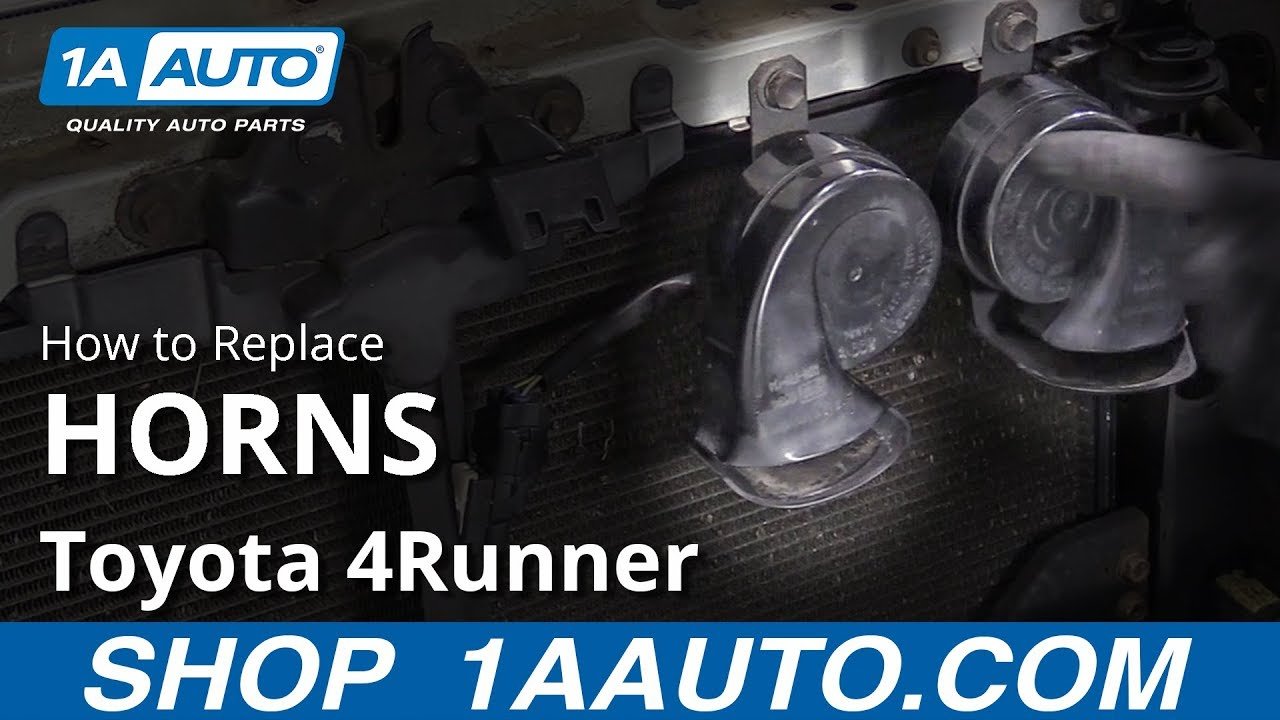 How to Replace Horns 02-09 Toyota 4Runner