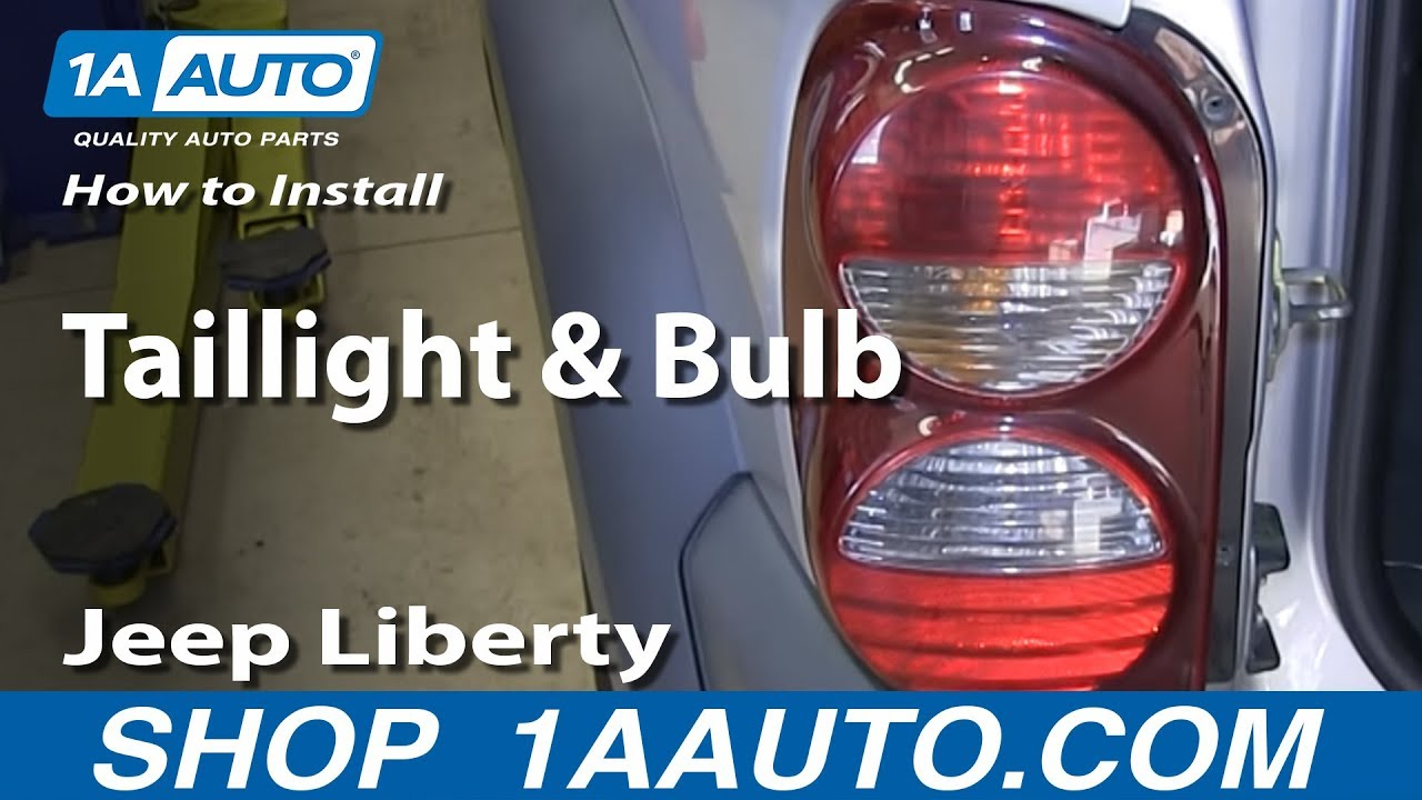 replace tail light  bulb   jeep liberty