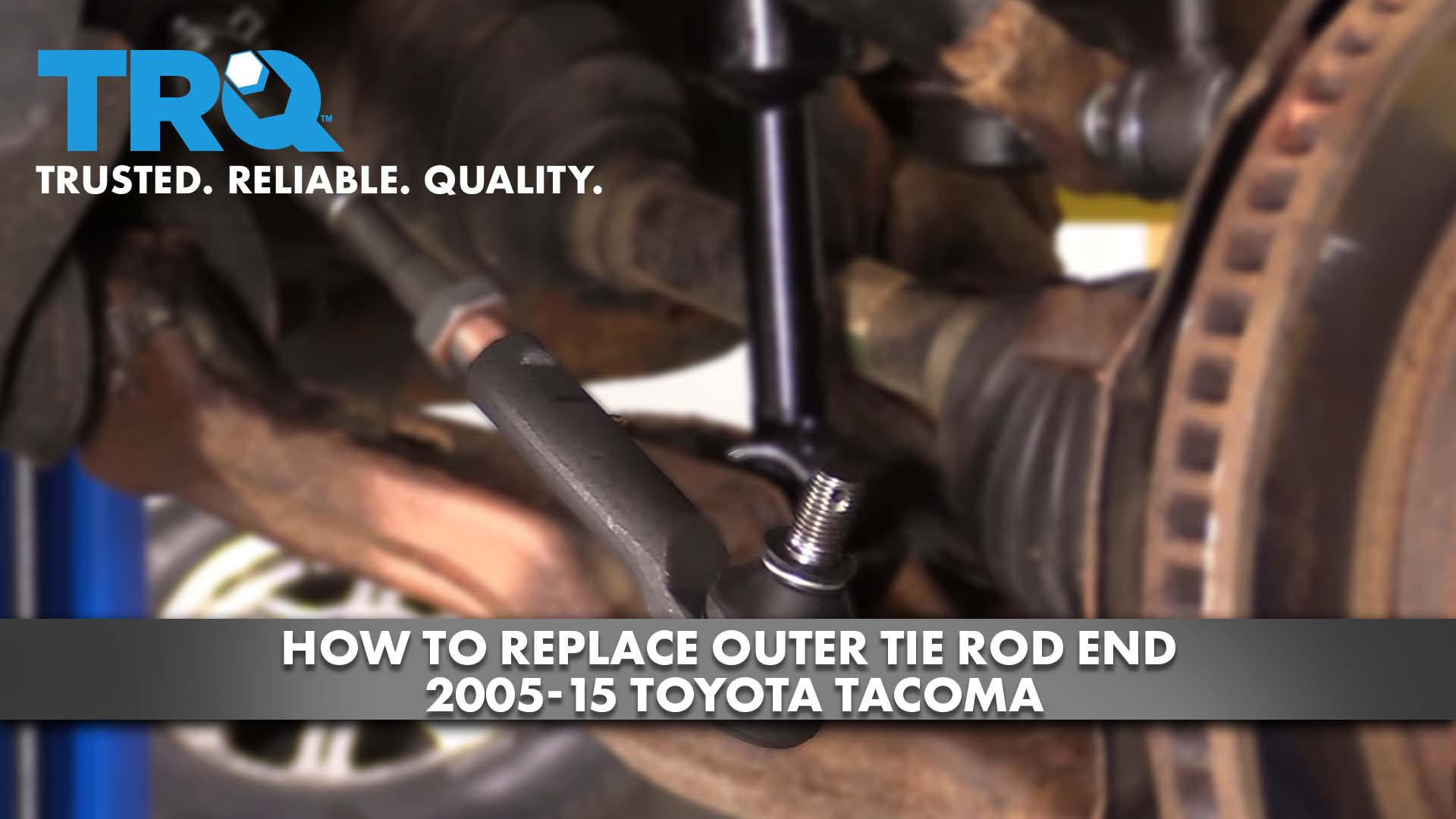 How to Replace Outer Tie Rod End 05-15 Toyota Tacoma