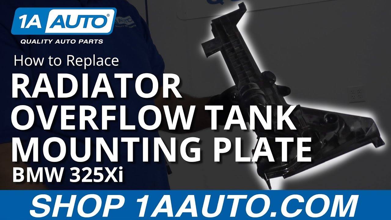 How to Replace Radiator Overflow Tank Mounting Plate 01-05 BMW 325Xi