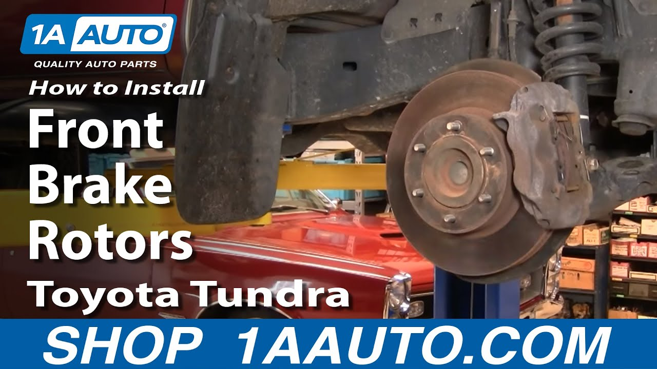 How To Replace Front Brake Rotors 00-05 Toyota Tundra