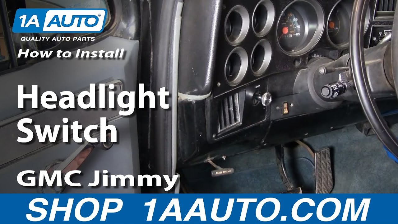 How To Replace Headlight Switch 70