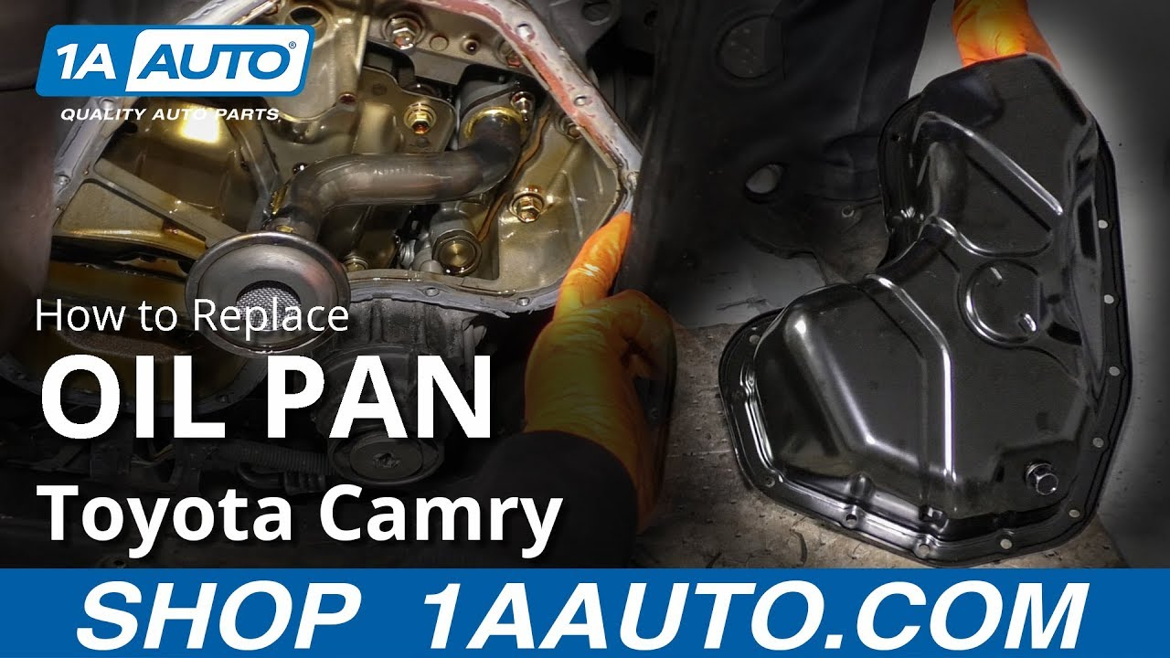 How to Replace Engine Oil Pan 07-17 Toyota Camry