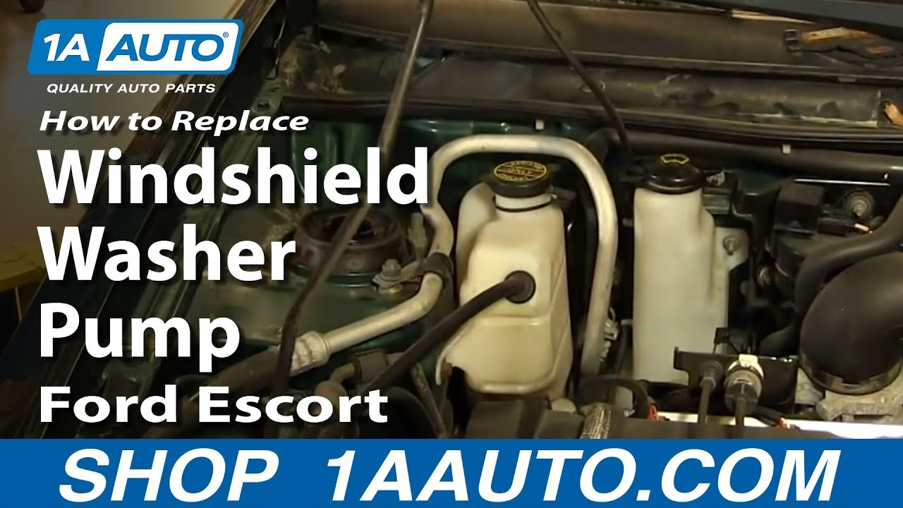 How To Replace Windshield Washer Pump 97-02 Ford Escort ZX2