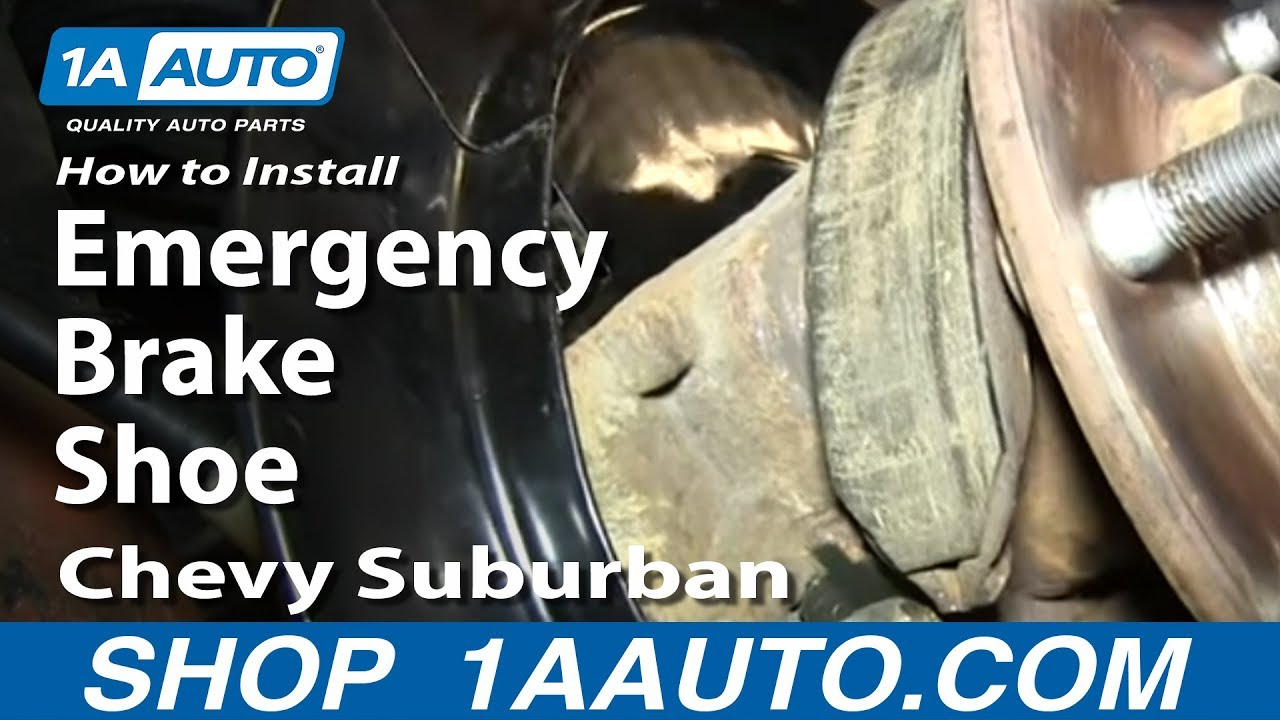 How to Replace Parking Brake Shoe 00-14 Chevy Suburban