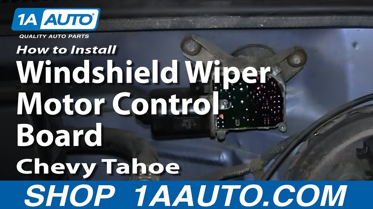 How to Replace Windshield Wiper Pulse Board 95-00 Chevy Tahoe