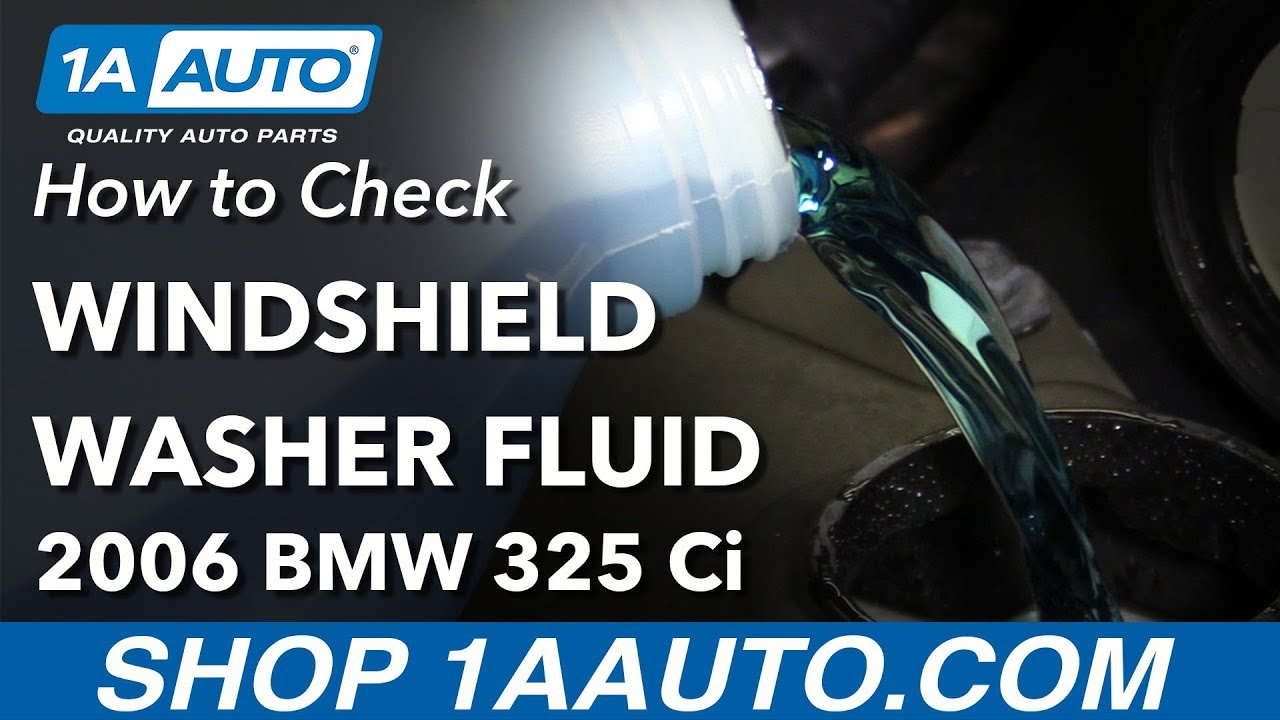 How to Check Washer Fluid 04-13 BMW 325Ci E46