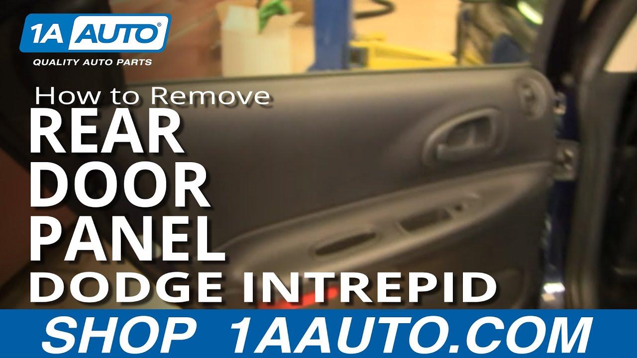 How To Remove Rear Door Panel 98-04 Dodge Intrepid