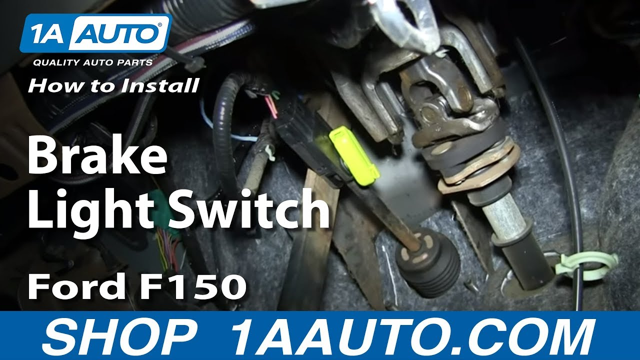 How To Replace Brake Light Switch 0408 Ford    F150      1A Auto