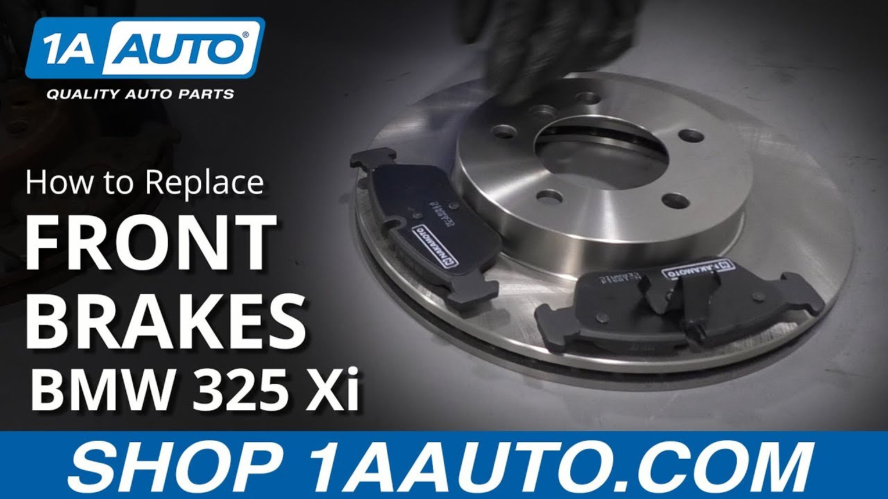 How to Replace Front Brakes 01-05 BMW 325 Xi