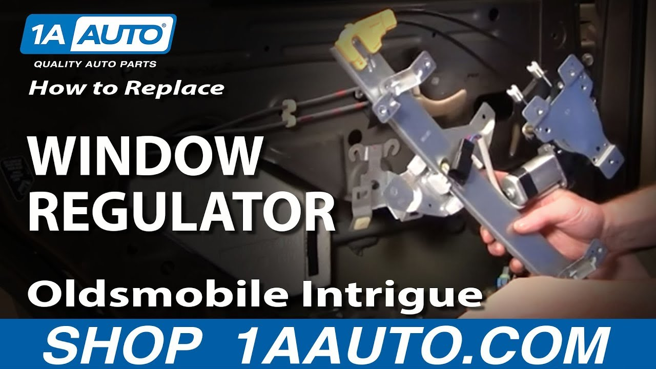 How to Replace Window Regulator 98-02 Oldsmobile Intrigue