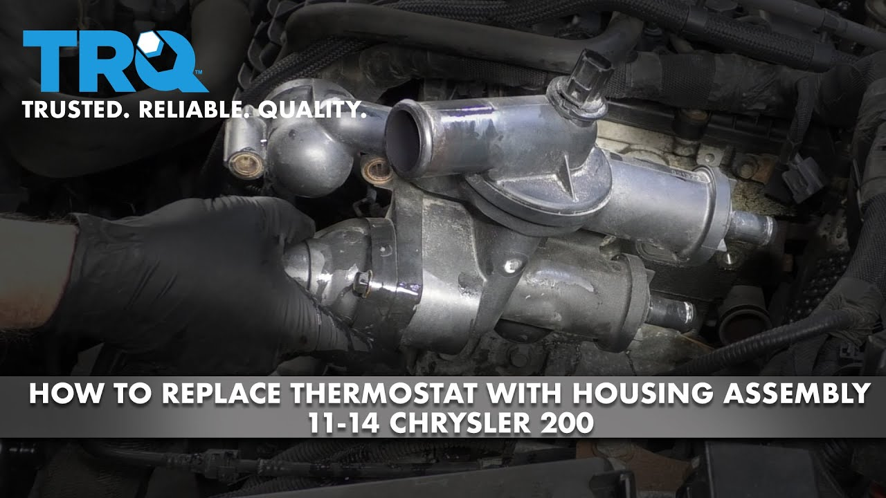How to Replace Thermostat with Housing Assembly 11-13 Chrysler 200