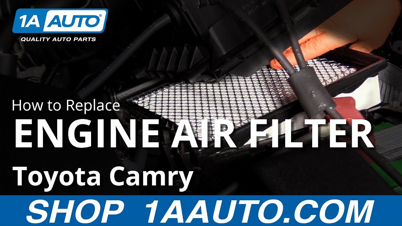How to Replace Engine Air Filter 11-17 Toyota Camry