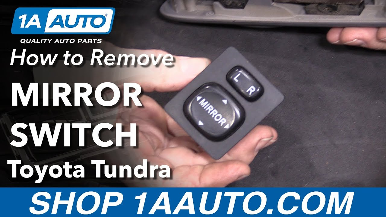How to Replace Mirror Switch 00-06 Toyota Tundra