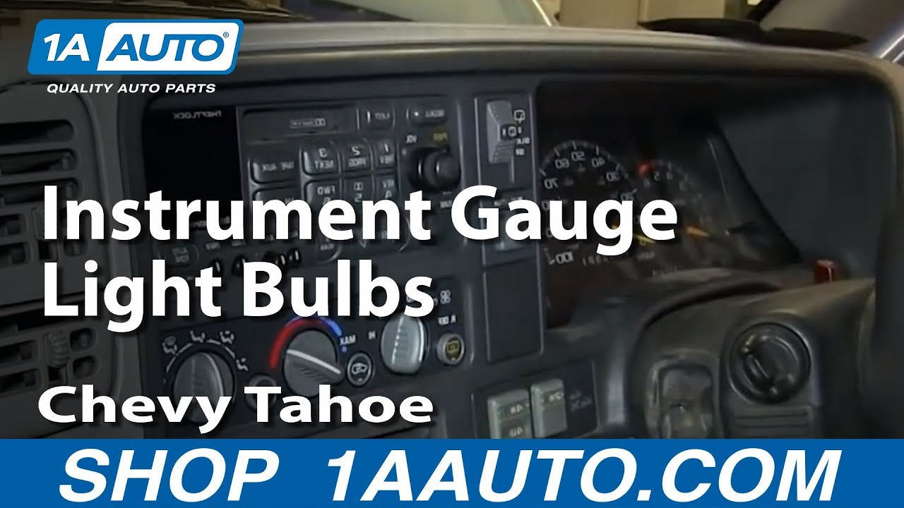 How To Replace Instrument Gauge Light Bulbs 96-99 Chevy Tahoe