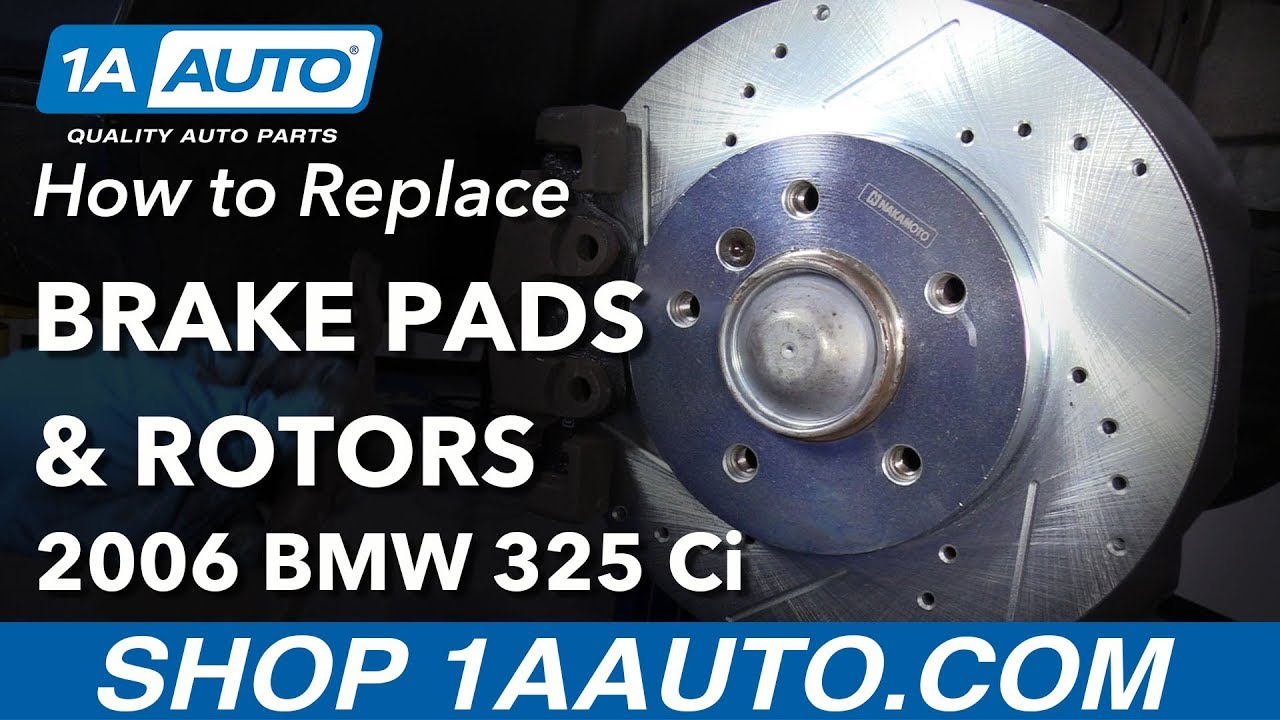 How to Replace Front Brakes 01-06 BMW 325Ci
