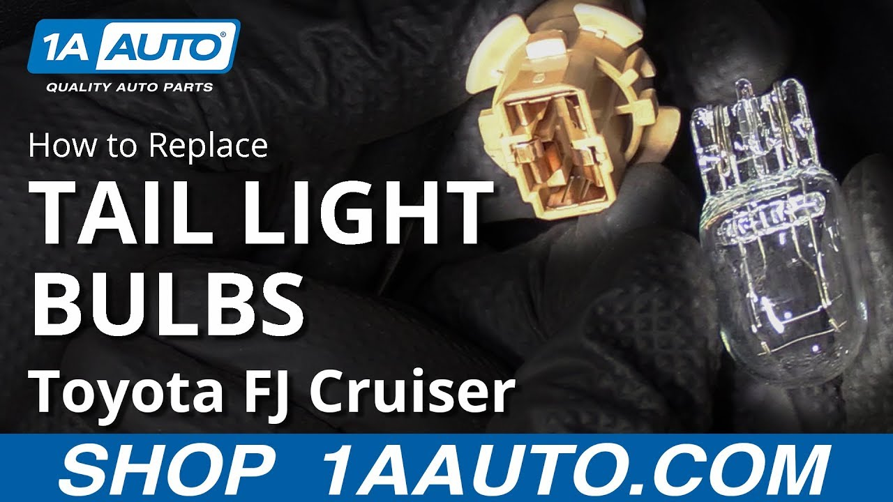 How to Replace Taillight Bulbs 07-14 Toyota FJ Cruiser