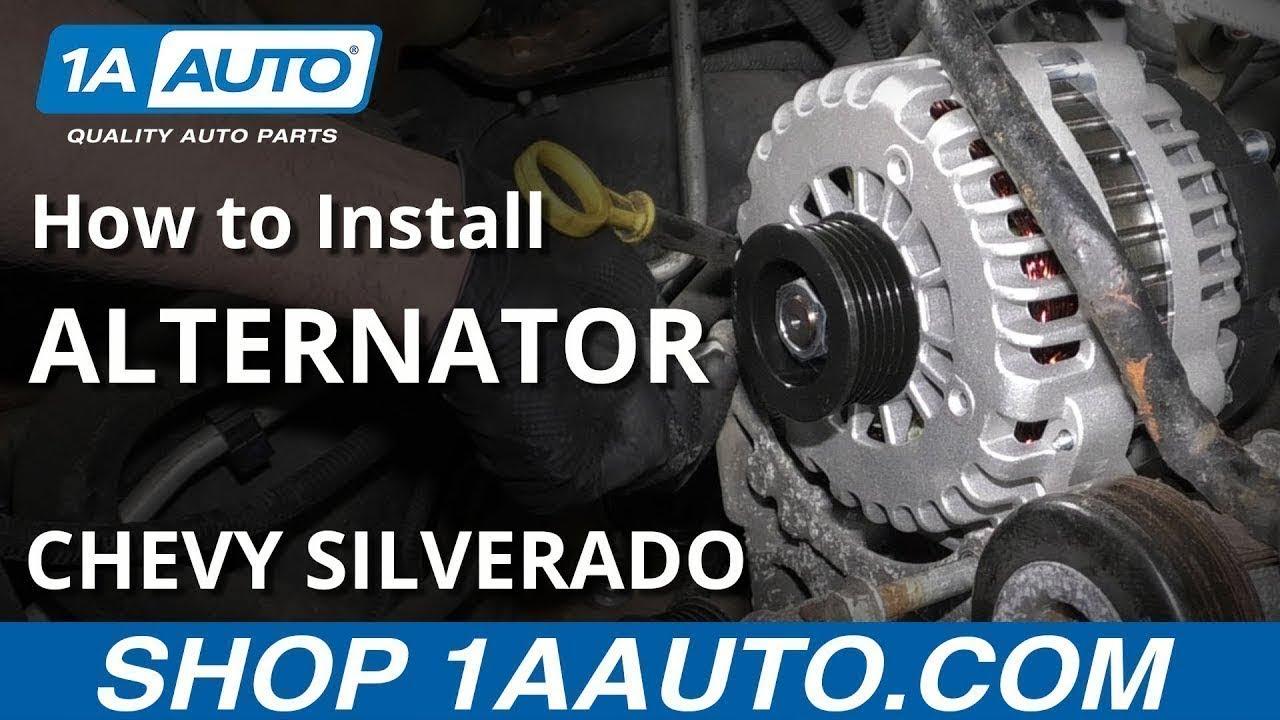 How to Replace Alternator 05-10 Chevy Silverado