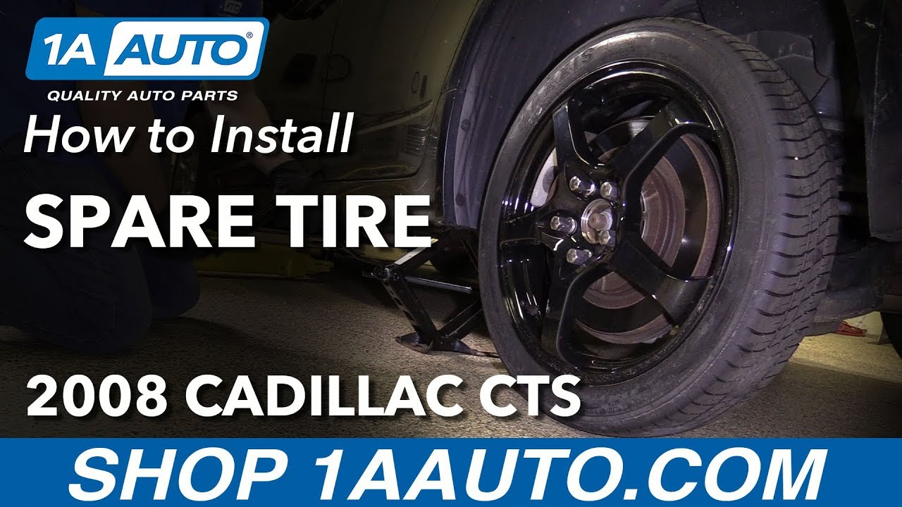 How to Install Spare Tire 08-14 Cadillac CTS
